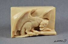 DRAGON SILICONE SOAP MOLD -  SOAP BAR MOULD BIG WINGS PLASTER CANDLE CLAY WAX