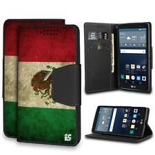 For LG G Stylo, Faux Leather Flip Wallet Case - Mexican Flag