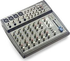 Stagg SMIX 4M4S D Mixer 10 Input DSP FX Mixing Desk Audio Sound Studio Karaoke