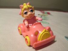 McDonalds   Muppet Babies  Miss Piggy  LOOSE w/ PINK CAR 1986 Happy Meal Toy C