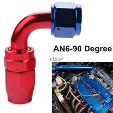 New -6AN AN6 6-AN 90 Degree Swivel Oil/Fuel Line Hose End Adaptor/Fitting