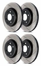 STOPTECH MITSUBSISHI EVO X 10 MR GSR FRONT AND REAR SLOTTED BRAKE ROTORS DISCS
