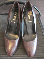 Prada dark brown pumps size 38 made in Italy