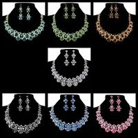 Bridal wedding Necklace Earring Jewellery Set party Prom Swarovski Crystals