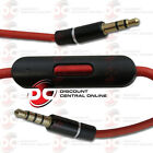 MALE TO MALE 3.5mm AUX AUXILIARY AUDIO CABLE WITH IN LINE MICROPHONE