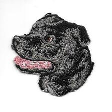 """2"""" x 2 1/8"""" Staffordshire Bull Terrier Portrait Dog Breed Embroidery Patch"""