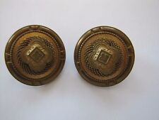 Patrice Jewelry, Antiqued Bronze Disc Clip On Earrings, no stones