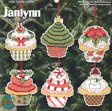 Cross Stitch Kit ~ Janlynn Set of 6 Yummy Christmas Cupcake Ornaments #021-1390