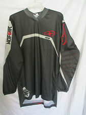 NO FEAR '08 motocross jersey COMBAT adult small gry/red MX ATV FMX off road
