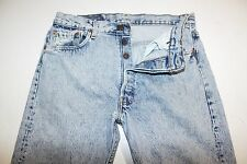 VTG? LEVI'S 501  Mens Distressed Jeans ACID WASH Tag 34 X 30 ACTUAL = 34X29 USA