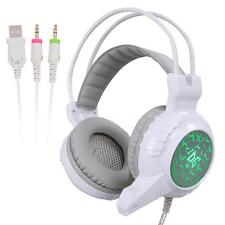 3.5mm Gaming Headset Headphone with Mic Colorful LED for PC PS4 Xbox one S9W3