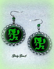 ICP Inspired Hatchet Love Juggalette Bottle Cap Bead Earrings (SPRING)