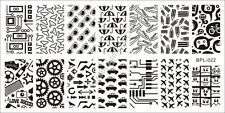 BORN PRETTY Nail Art Stamping Plate Geek Pattern Image Stamp Template BP-L022