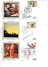 5 CHRISTMAS 1981 POST CARDS SIGNED BY BLUE PETER PRESENTERS