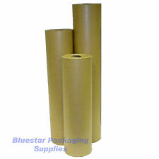 50m 600mm Pure Kraft Brown Wrapping Paper Roll 90gsm