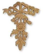 Wood Pine Cone Flowers Buds Leaves Hardwood Onlay Gingerbread Applique Molding