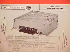 1956 FORD FAIRLANE SKYLINER CONVERTIBLE COURIER AM RADIO SERVICE SHOP MANUAL 2