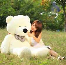 "47"" 120cm White Teddy Bear Giant Big Huge Plush Toy Christmas Gift Soft Doll Toy"
