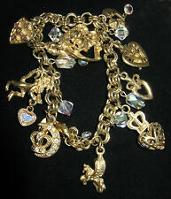 Rare Kirks Folly Legend Of The Heart Medieval Pegasus Charm Bracelet