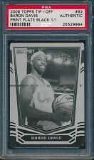 2008 TOPPS TIP-OFF BARON DAVIS BLACK PRINT PLATE #63 PSA AUTHENTIC #1/1 #9984
