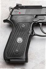 Wilson Combat - Beretta 92/96 G10 Ultra Thin Grips - Checkered - Black