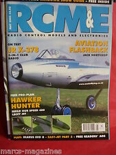 "RCM&E MAY 2002 HAWKER HUNTER PRO PLAN NIGEL HAWES 26"" SPAN IKARUS ECO 8 REVIEW"