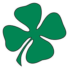 "Reflective Vinyl 4 Leaf Clover/Shamrock Fire Helmet Decal Sticker 2"" Mtpl Colors"