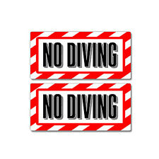 No Diving Pool Sign - Window Business Sticker Set