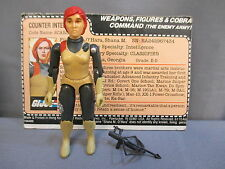 "GI Joe 1982 ""SCARLETT"" 100% Complete + File Card & Crossbow Straight Arm VINTAGE"