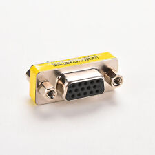 VGA SVGA 15 Pin Female to Female F/F Mini Gender Changer Adapter Connector ESUS