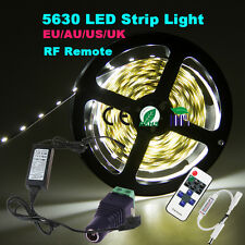 Dimmable 5M 5630 SMD 300 LED Strip Light Full Kit+ RF Dimmer+ Power Supply +DC