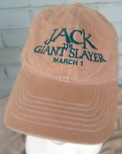 Jack The Giant Slayer Tan Distressed Movie Baseball Cap Hat One Size