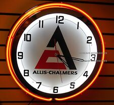 """18"""" ALLIS-CHALMERS A-C New Logo Sign Double Neon Clock"""