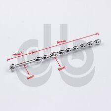 In acciaio inox Uretrale Sound-Dilatatore CBT Plug Tubo CATETERE Pene Anello ff903a