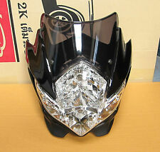 Streetfighter Street fighter Headlight Main for Motorcycle Bike Spyder Black NEW