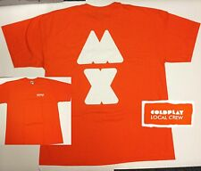 COLDPLAY - MYLO XYLOTO Tour 2012 - Local Crew Shirt - ORANGE - XL - NEU