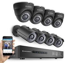 Amcrest 720P HDCVI CCTV 8CH Video Security System 4x Bullet 4x Dome Cameras 2TB
