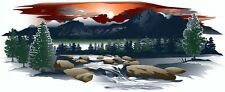 1 RV TRAILER CAMPER MOUNTAIN SCENE DECAL GRAPHIC -930-4