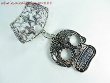 US SELLER sugar skull gothic scarf slides wholesale jewelry scarf pendant