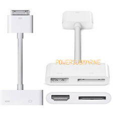 New Dock Connector to HDMI AV TV Adapter Sync Charger for iPad 2 3 iPhone 4 & 4S