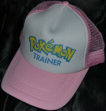 Pink Pokemon Trainer Go Hat Ball Cap Outfit Costume Teens Kids To Adults Girls