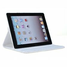White iPad 2 360 Degree Rotational Case Stand Cover Protect From Shock Dust
