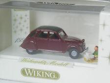TOP: Wiking Citroen 2CV Ente weinrot Weihnachten 1999 in OVP