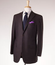 NWT $11,200 KITON Chocolate Brown Super 200s Wool Suit 38 R (Eu 48) Classic-Fit