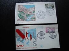 FRANCE - 2 enveloppes 1er jour 1960 (ecole normale/vall sioule) (cy94) french