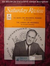 Saturday Review March 1 1958 SCIENCE KENNETH E BOULDING MARS JOHN LEAR