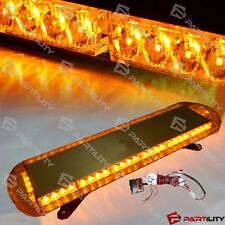 "33"" 56 LED Amber Yellow Emergency Warning Truck Strobe Tow Light Bar Roof"