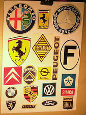 FAC SIMILE AUTOCOLLANTS GARAGES 1970 CITROEN PEUGEOT SIMCA RENAULT OPEL FORD...