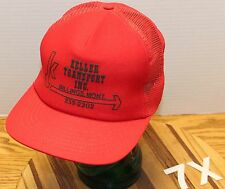 VINTAGE KELLER TRANSPORT BILLINGS MONTANA TRUCKERS STYLE SNAPBACK HAT RED