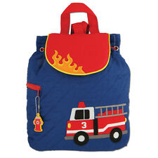 Stephen Joseph Boys Quilted Firetruck Backpack - Cute Toddler Preschool Bags